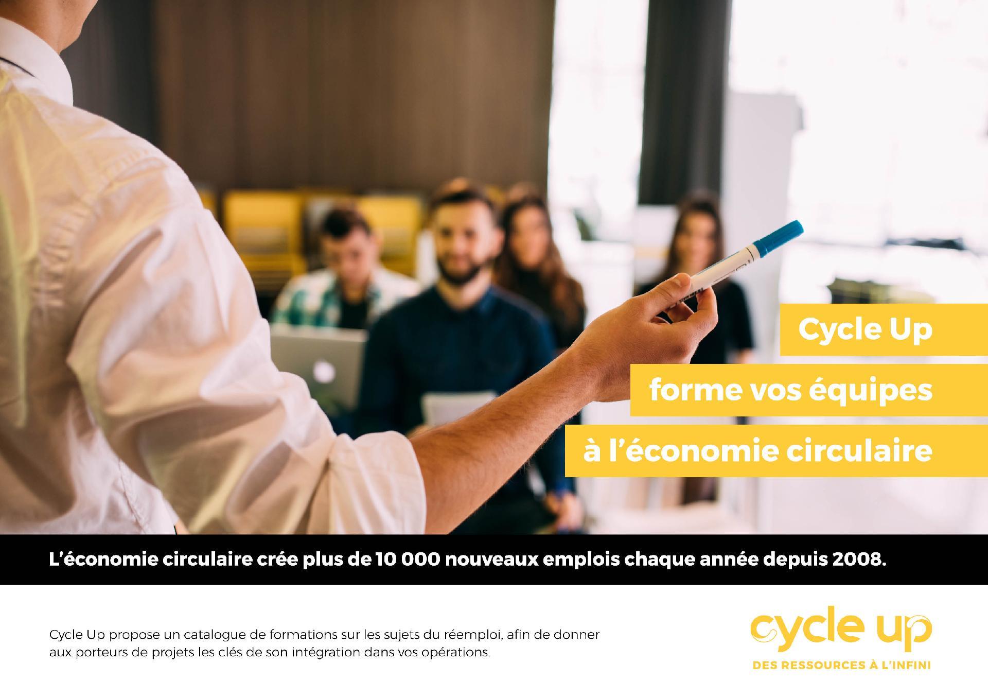 plaquette possibilité de former vos équipes à l'économie circulaire