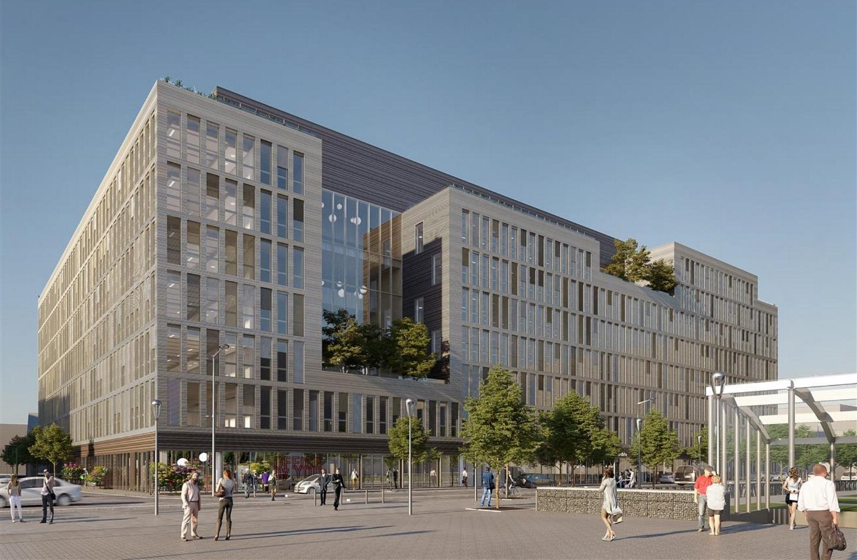immeuble fait avec des matériaux réemployer à côté de Seine Saint-Denis