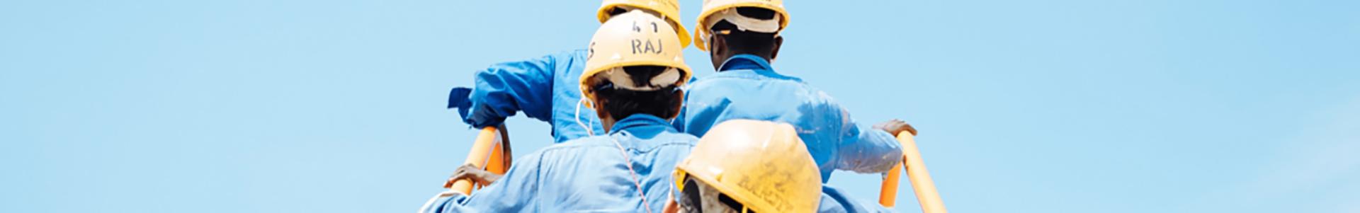 Equipe intervenant sur un chantier