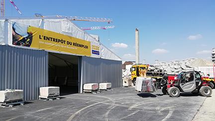 L'entrepôt du réemploi à Saint Ouen